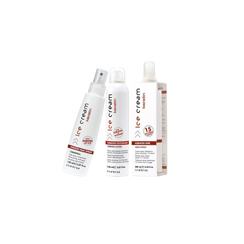 ICE CREAM KERATIN-spray, one, texturizer - INEBRYA