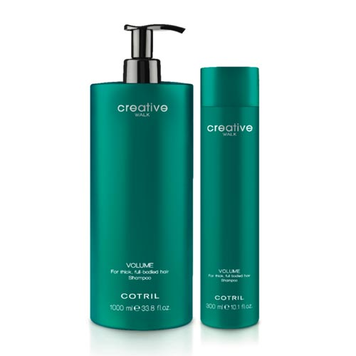 CREATIVE WALK VOLUME: For thick, full bodied hair shampoo.